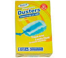 STATUS CLEAN HAND-DUSTERS PACKET  HANDLE & 5 CLOTHES - Dusters
