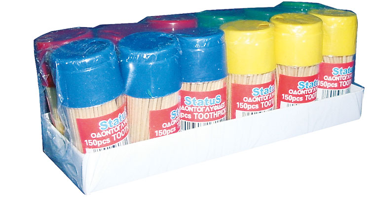 Toothpicks - TOOTHPICKS  A'  BOTTLE 150 PCS.