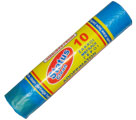 PLASTIC GARBAGE  BAGS 10PCS/ROLL BLUE WITH STRING (52Χ78cmHDPE) - Garbage bags