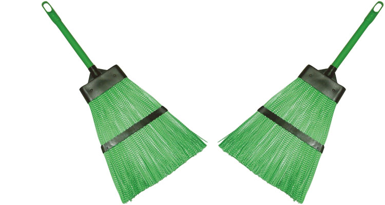 Brooms-brushes - PLASTIC  BROOM TYPE GRASS BROOM