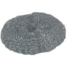GALVANIZED  SCRUBBER (KNITTED) 30gr. SILVER LARGE - Sponges - Galvanished scurrers