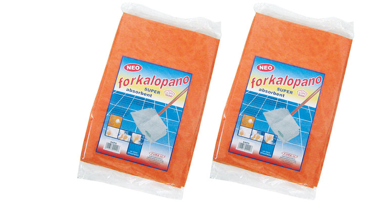Floor clothes - NON WOVEN  FLOOR  CLOTH  ORANGE  40Χ60cm